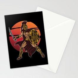 Spartan Warrior | Sparta Greek Fighter Sword Power Stationery Cards