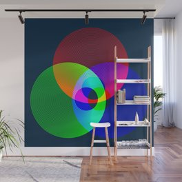 Red Green Blue Light Color Model Lines Wall Mural
