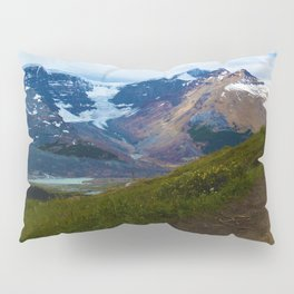 Athabasca & Snowdome Glaciers in Jasper National Park, Canada Pillow Sham