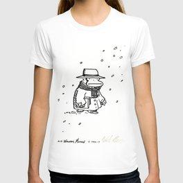 Bundled Ape Returns Books in the Snow T-shirt