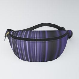 Purple selective focus blurred stripes pattern Fanny Pack