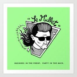Le Mullet Green Art Print