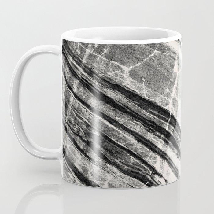 Abstract Marble - Black & Cream Coffee Mug