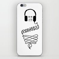 three of the possessed iPhone & iPod Skins featuring Possessed by the Beat by Daniel Viberg