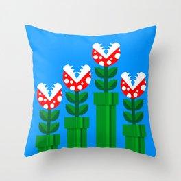 Carnivorous Plant Throw Pillow