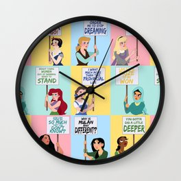 Protest Princesses Wall Clock