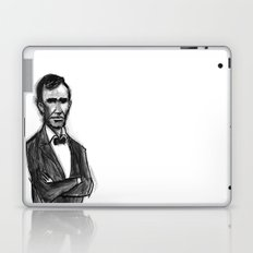 Abraham Lincoln Don't Have Time. Laptop & iPad Skin