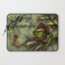 Felipe the Jolly Holiday Frog Laptop Sleeve