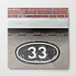 The Number 33 Metal Print