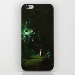 Central Park, Summer Night, Riverside Drive landscape by George Wesley Bellows iPhone Skin