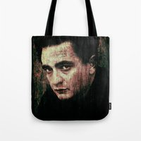 johnny cash Tote Bags featuring Cash by Sirenphotos