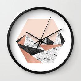 Geo Landscape Hexagon Wall Clock