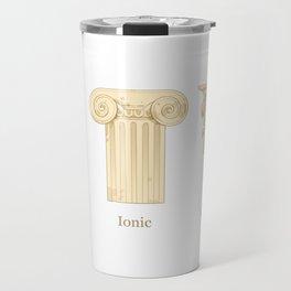 Columns - Creme Travel Mug