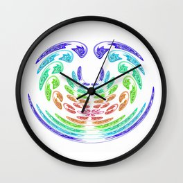 rainbow aggressive Wall Clock