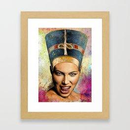 Modern Nefertiti Framed Art Print
