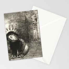 "Odilon Redon ""... une longue chrysalide couleur de sang"" Stationery Cards"