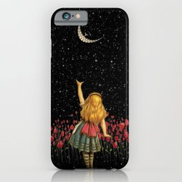 Wonderland Smiling Starry Night - Alice In Wonderland iPhone Case