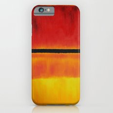 Untitled (Violet, Black, Orange, Yellow on White and Red) iPhone 6 Slim Case