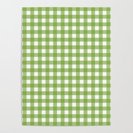 Green plaid Poster