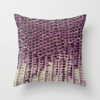 honeycomb Throw Pillows featuring Honeycomb by BellagioVista