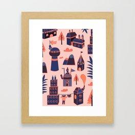 A Little Town Framed Art Print