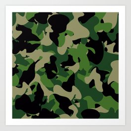 Camouflage Jungle style Art Print