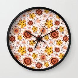 Organic Medallions -Burnt Orange Wall Clock