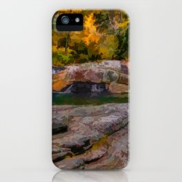 Linville Falls Digital Paint iPhone Case