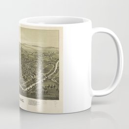 Aerial View of Waynesburg, Pennsylvania (1897) Coffee Mug