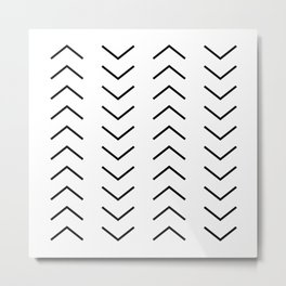 Abstract Arrows Metal Print