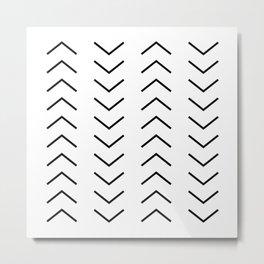Abstract Arrows Metal Print