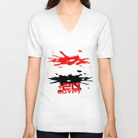 egypt V-neck T-shirts featuring Egypt Code by Maxvtis