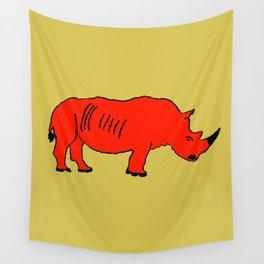 The Crimson Rhinocerous Wall Tapestry