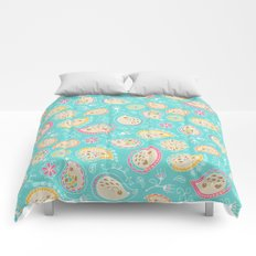 Hedgehog Paisley_Colors and Light blue Comforters