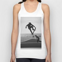 skateboard Tank Tops featuring Skateboard Freedom by Scotty Photography
