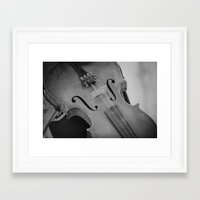 violin Framed Art Prints featuring Violin by KimberosePhotography