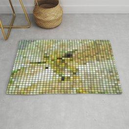 Pale Yellow Poinsettia 1 Mosaic Rug