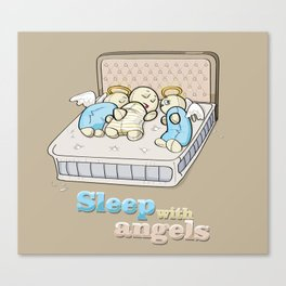 Sleep with angels Canvas Print