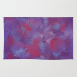 Abstract Painting in Purple, Red and Blues Rug