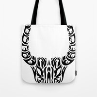 capricorn Tote Bags featuring Capricorn by Mario Sayavedra