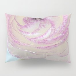 WHITE RANUNCULUS FLOWER Pillow Sham