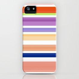 nice stripes orange iPhone Case