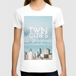 Twin Cities Skylines and Clouds-Minneapolis and Saint Paul Minnesota T-shirt