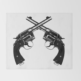 Crossed Revolvers Throw Blanket