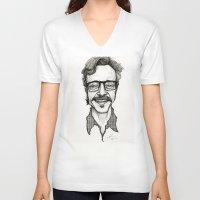 marc johns V-neck T-shirts featuring Marc Maron by Simone Bellenoit : Art & Illustration