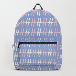 Upper Case Letter H Pattern Backpack