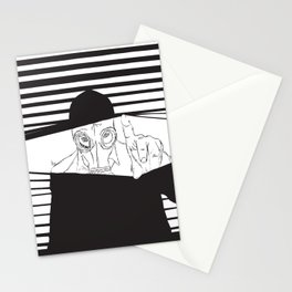 Man in the Mask -Watching your Walls Stationery Cards