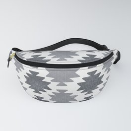 Southwestern pattern light grey Fanny Pack