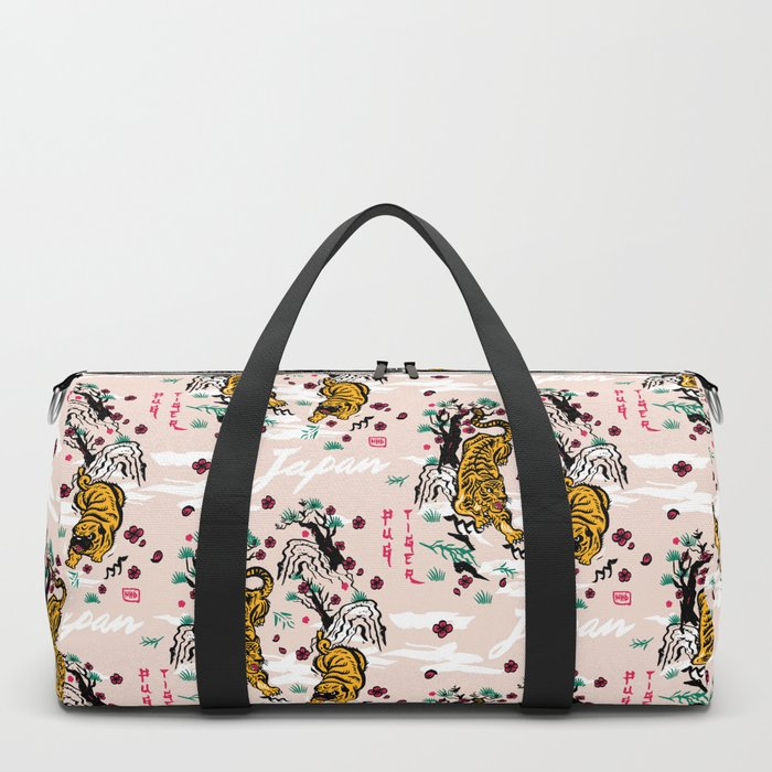 Tiger and Pug Japanese style Duffle Bag