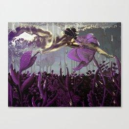 PURPLE DIVE Canvas Print